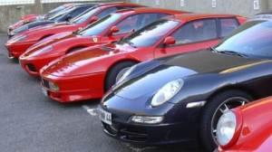 concentration de voitures de sport