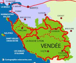 carte de la Vendée