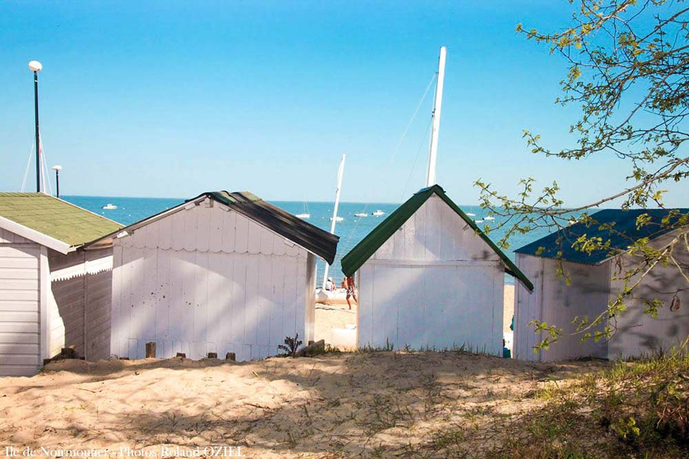 les cabanes de plage de Noirmoutier