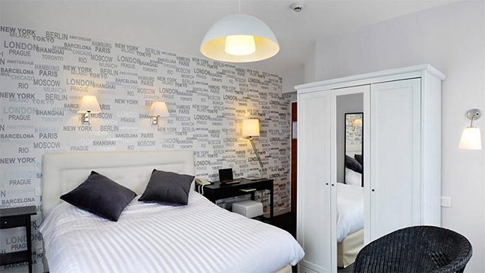 chambre double de l'hotel de charme aux Sables 'Olonne